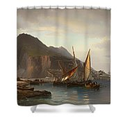 Shipping Off Gibraltar Shower Curtain