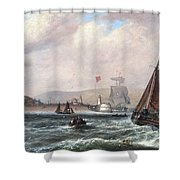 Shipping Off Newhaven Harbour Shower Curtain