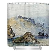 Shipping Off The Coast Of Granville Shower Curtain