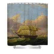 Shipping Off The Eddystone Shower Curtain