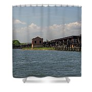 Shipping Terminal Shower Curtain
