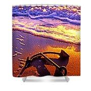 Ships Anchor On Beach Shower Curtain