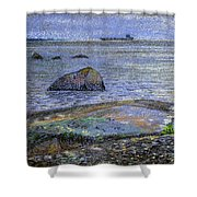 Ships And Stones Shower Curtain