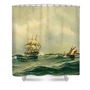 Ships At Sea Shower Curtain