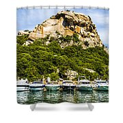 Ships Collection To Italian Harbor Shower Curtain