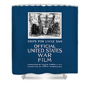 Ships For Uncle Sam - Ww1 Shower Curtain