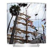 Ships Palm Shower Curtain