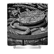 Ships Rope And Pully Shower Curtain