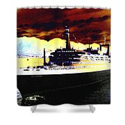 Shipshape 3 Shower Curtain