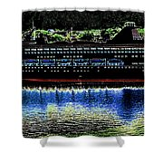 Shipshape 8 Shower Curtain by Will Borden