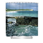 Shipwreck Beach Shower Curtain
