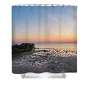 Shipwreck Panorama  Shower Curtain