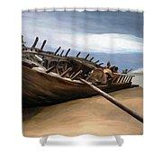 Shipwreck Shower Curtain