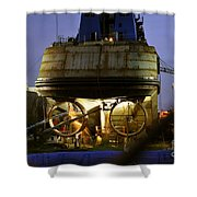 Shipyard Work Shower Curtain