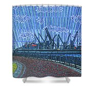 Shipyards A Newport News Shower Curtain