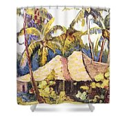 Shirley Russell Art Shower Curtain