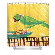 Shirley's Bird Shower Curtain