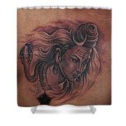Shiva Mahadev Shower Curtain