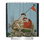 Shiva Romancing With Parvatti. Shower Curtain