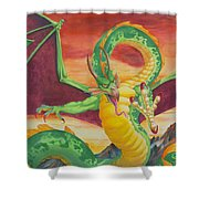 Shivan Dragon 3.0 Shower Curtain
