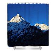 Shivling And Meru, Uttarakhand, India Shower Curtain