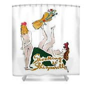Shocked Not Shower Curtain by ReInVintaged