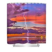Shocking Pinks Sunset Shower Curtain