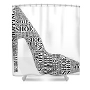 Shoe Shopping Shower Curtain