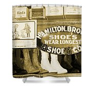 Shoe Shopping In The 30's Shower Curtain