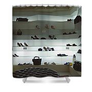Shoe Store After Hours - Venice, Italy Shower Curtain