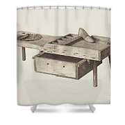Shoemaker's Bench Shower Curtain