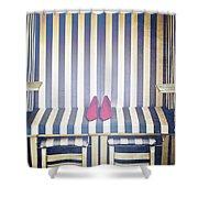 Shoes In A Beach Chair Shower Curtain
