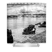 Shoes On The Danube Memorial Shower Curtain