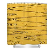 Shoestring Eucalyptus Abstract Shower Curtain