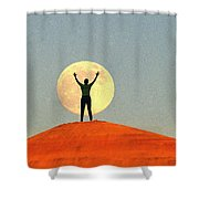 Shoot For The Moon Shower Curtain
