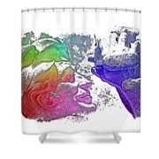 Shoot For The Sky Cool Rainbow 3 Dimensional Shower Curtain