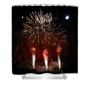 Shooting The Fireworks Shower Curtain