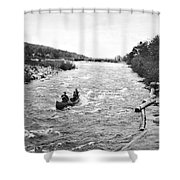 Shooting The Rapids In Maine Shower Curtain