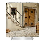 Shop In Rovinj Shower Curtain