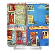 Shopfronts Galway Shower Curtain