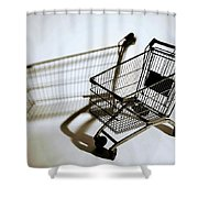 Shopping Cart Reflection Art  Shower Curtain