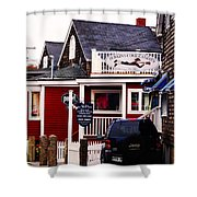 Shopping In Perkins Cove Maine Shower Curtain