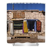 Shopping In Toconao Chile Shower Curtain