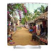 Shops In Madagascar Shower Curtain