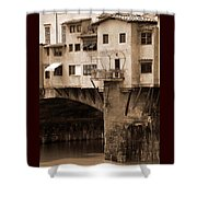Shops On The Ponte Vecchio Shower Curtain