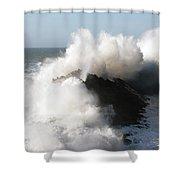 Shore Acres Wave 2 Shower Curtain