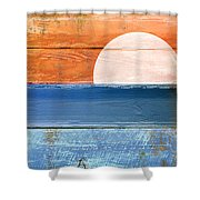 Shore And Sunset Shower Curtain