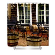 Shore Cafe Shower Curtain