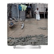 Shore Landing Welcome Shower Curtain