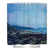 Shore Of Loneliness Shower Curtain